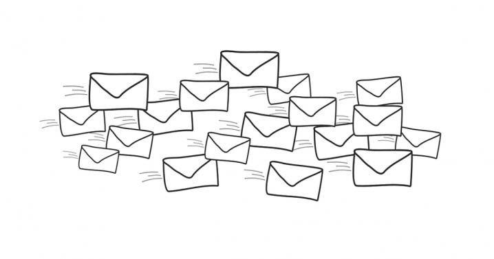 封筒メール